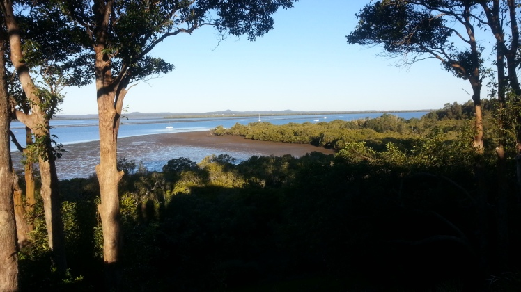 Riding along Redland Bay.