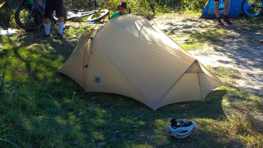 Justin's tent
