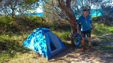 Chris and his $12 tent! :o