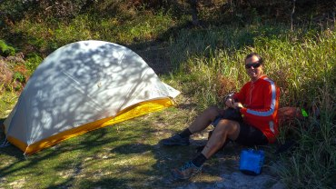 Neil's tent